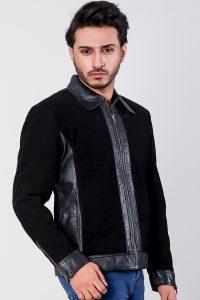 Stallon Black Hybrid Suede Jacket Side 1