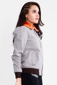 Flashback Grey Fabric Bomber Jacket Half Side