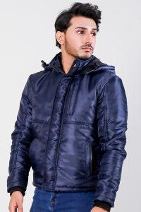 Alps Blue Hooded Windbreaker Jacket Half Side