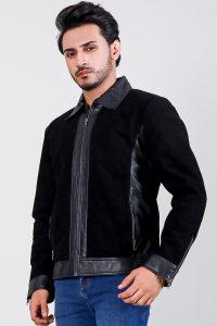 Stallon Black Hybrid Suede Jacket Side 2