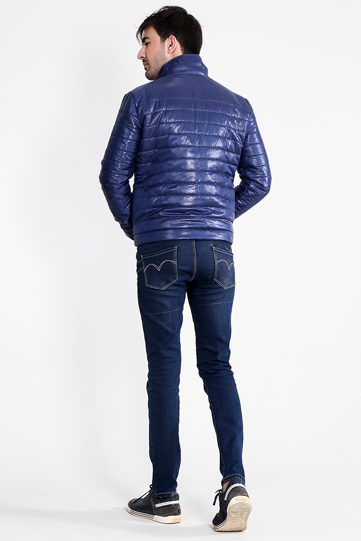 Nashville Blue Puffer Jacket Full Back