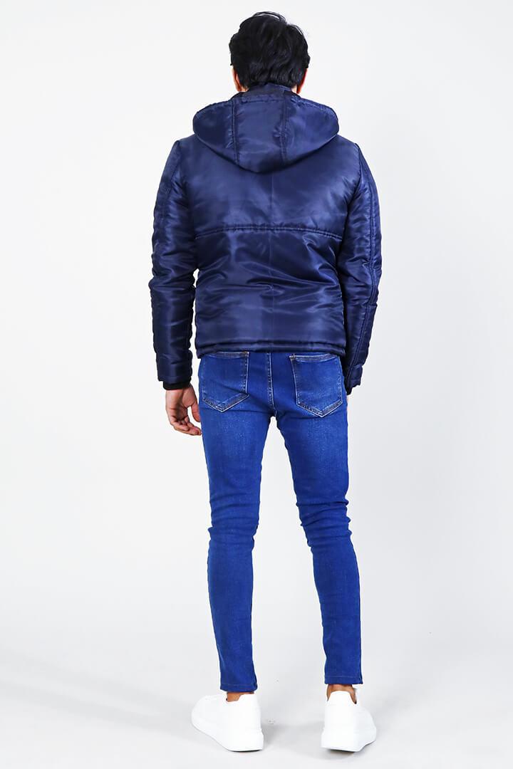 Alps Blue Hooded Windbreaker Jacket Full Back